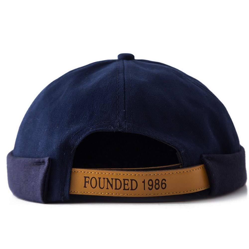 Clape No Brim Docker Leon Beanie Cap New Urban Style Rolled Cuff Retro Worker Sailor Cap Unique Street Casual Cotton Brimless Hat