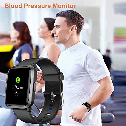 YAMAY Smart Watch 2020 Ver. Watches for Men Women Fitness Tracker Blood Pressure Monitor Blood Oxygen Meter Heart Rate Monitor IP68 Waterproof, Smartwatch Compatible with iPhone Samsung Android Phones 51eLfAlc4 L