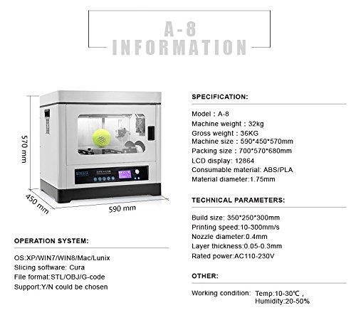 Industrial-Level-Big-Building-Size-350mmx250mmx300mm-Metal-Frame-3D-Printer-Support-ABSPLA