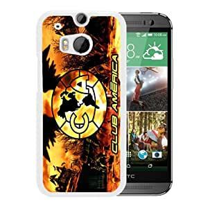 Fashionable Custom Designed Skin Case For HTC ONE M8 With Club America White Phone Case 5