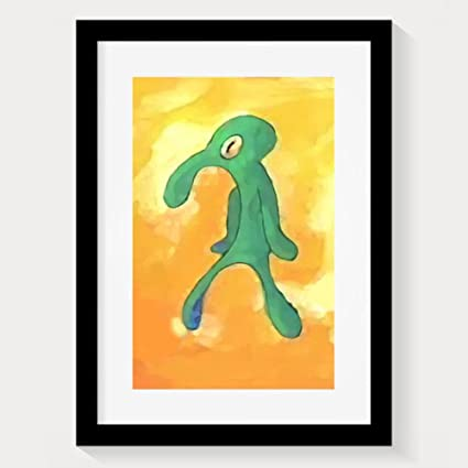 Amazoncom Bold And Brash Old Squidward Art Hand Painted Oil