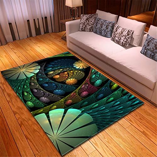 HADIY Area Rugs Notre Dame de Paris Modern Carpets Indoor for Hard Floors Door Mat Soft for Bedroom Living Room Home Decor 120x180CM (D)