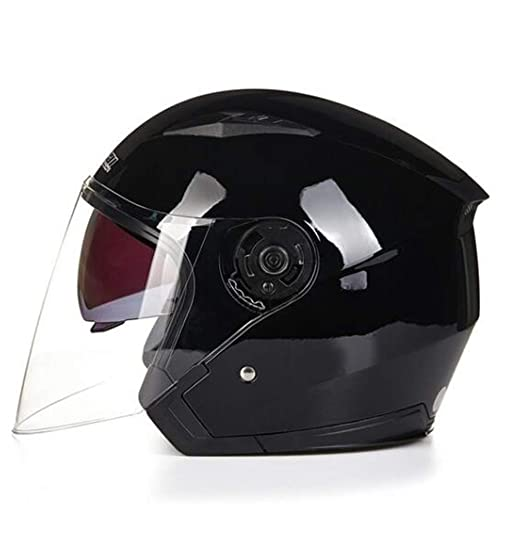 JASZHAO Jiekai Motocicleta Casco Cara Abierta Capacete para Motocicleta Cascos para Moto Racing Motocicleta Casco Vintage con Lente Doble,Pink,XL: ...