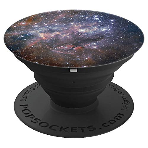 (Sassy Southern Charm & Grace Dark Blue Galaxy Pattern with Stars PopSockets Stand for Smartphones and Tablets)