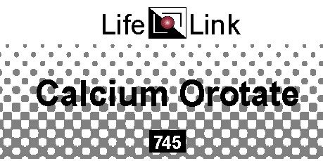Calcium Orotate 745mg LifeLink 100 Tabs