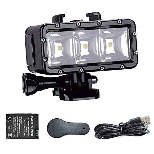 Suptig XShot Dimmable Waterproof (45m) LED Video Light for GoPro Cameras ()