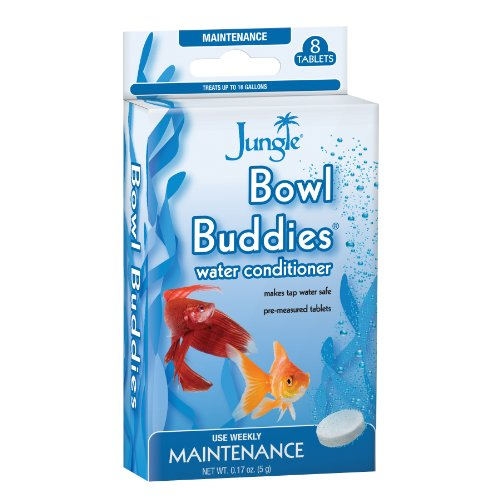 Tap Water Goldfish - Jungle BB730W Bowl Buddies Water Conditioner Tablets, 8-Count