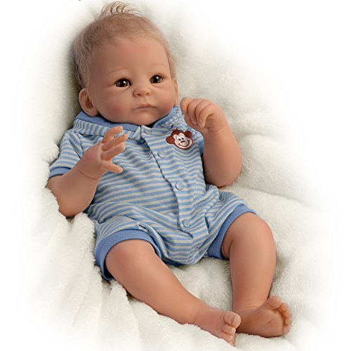 Benjamin So Truly Real® Lifelike & Realistic Weighted Newborn Baby Boy Doll 17-inches by The Ashton-Drake (Ashton Drake Newborn Doll)