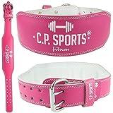 CP Sports Lady Gürtel Leder PINK - Frauen, Damen Gewichthebergürtel - Stützgürtel