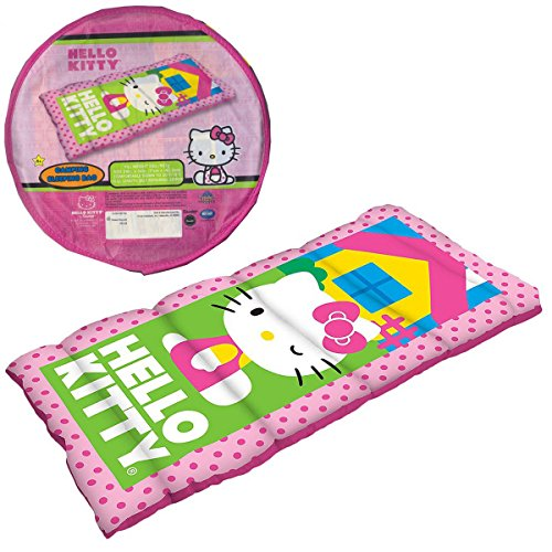 (Hello Kitty Pink Children's Sleeping Slumber Sleepover Bag in storage)