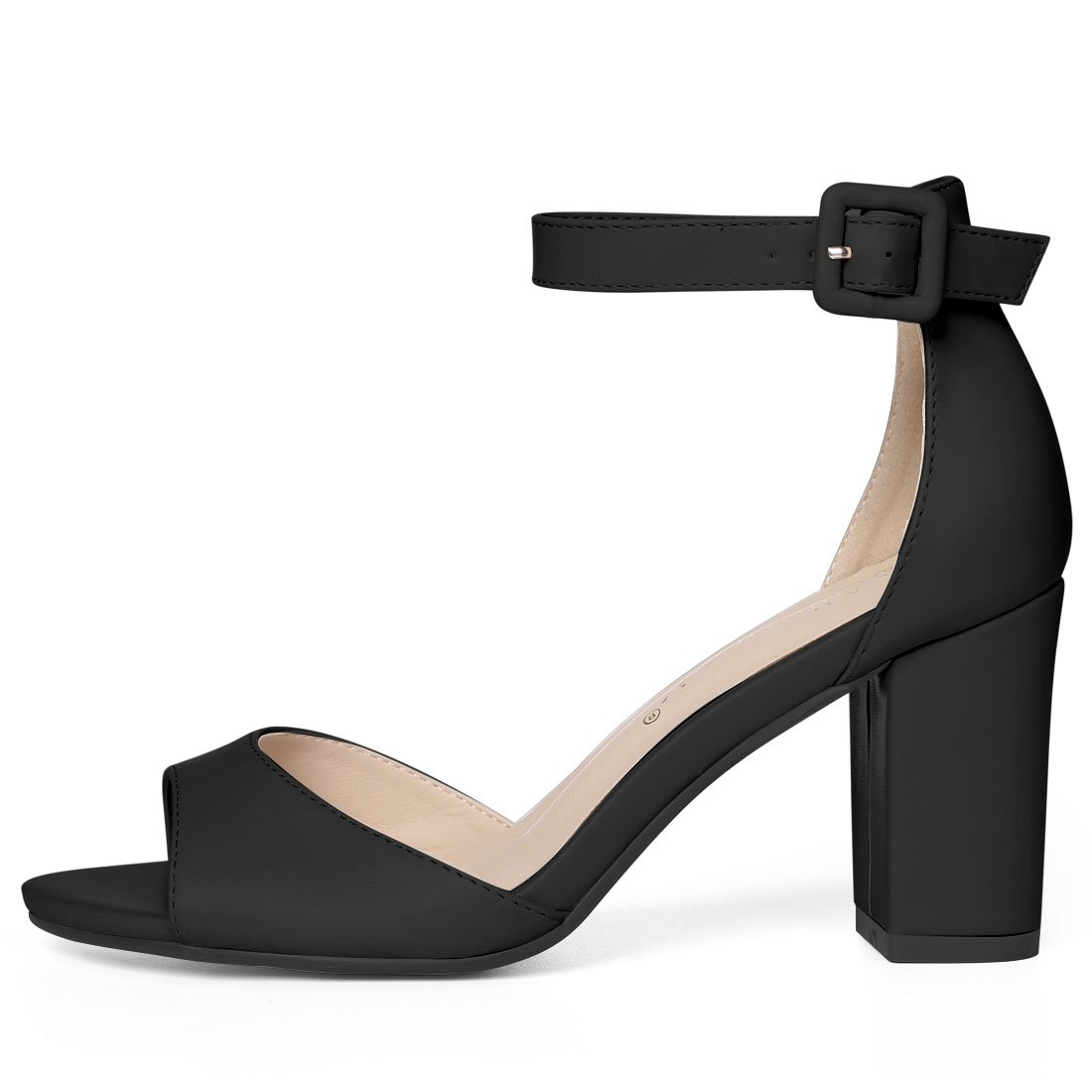 605a80f2dbbd4 Allegra K Women's Ankle Strap Chunky Heeled Sandal