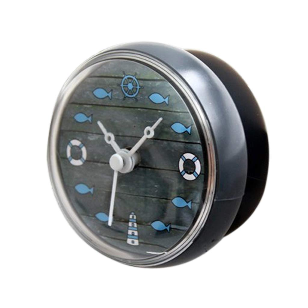 B Blesiya Wall Clock with Suction Cup, Waterproof, Lovely, Fix on Smooth Wall