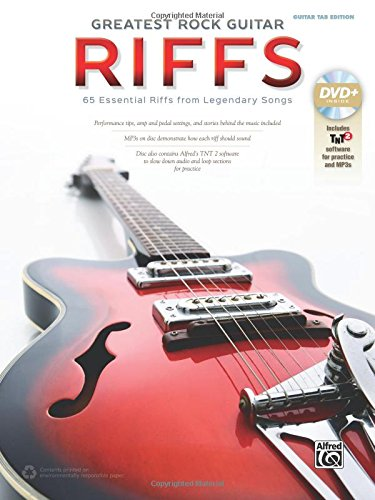 The Greatest Rock Guitar Riffs: Guitar TAB, Book & -