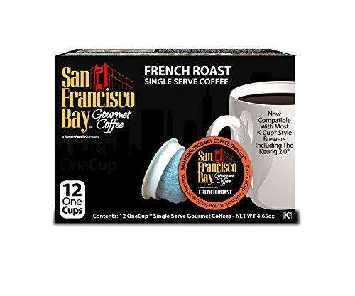 San Francisco Bay OneCup, French Roast, 12 Count- Single Serve Coffee, Compatible with Keurig K-cup (Victor Green Tea)