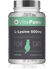 L-Lysine for Cats by VitaPaws (90 Capsules)