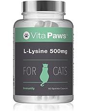 VitaPaws™ L-Lisina 500mg 90 Cápsulas para espolvorear | Aminoácido esencial en la dieta