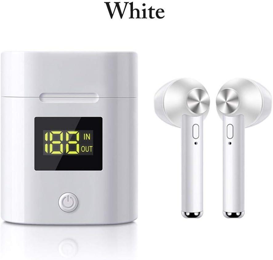 jinclonder Auriculares inalámbricos Bluetooth 5.0 más nuevos de, Pantalla de alimentación LED estéreo Hi-Fi Sound Mini Auriculares Invisibles livianos con Caja de Carga: Amazon.es: Deportes y aire libre