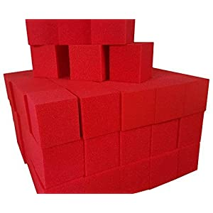 "Foam Pits Cubes/Blocks 108 pcs. 4""x4""x4"" Red (1536) Flame Retardant Pit Foam Blocks For Skateboard Parks, Gymnastics Companies, and Trampoline Arenas"