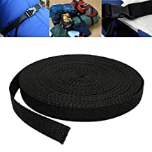 Bazaar 15mmx10m Black Nylon Fabric Webbing Tape For Making Strapping Belting Bag Strap