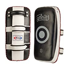Fairtex Curved Standard Thai Kick Pads( Pack of 2), Black/White