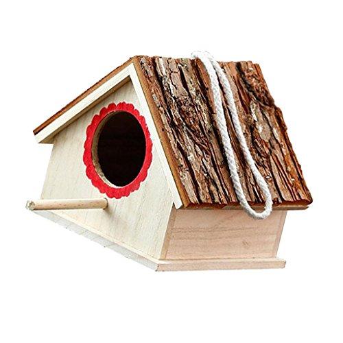 Baoblaze Casa Del Pájaro De Madera Que Cuelga Herramientas Manual para Jardinería Hogar Cocina
