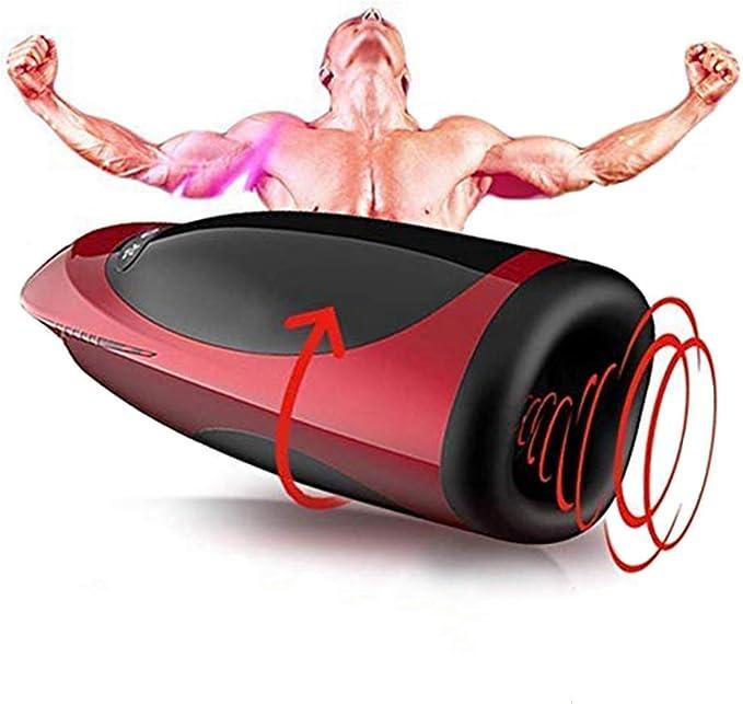 A simple love Dispositivo de para hombres que se calientan con función de hombres eléctrico 3D con función de masaje y succión, 7 modos de masaje ...