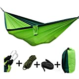 Hammock,Hammocks,Camping Hammock,Creativecase 2 parachute cloth type anti mosquito nets outdoor camping hammock (Green)