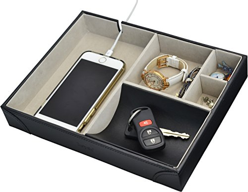 amazoncom surpahs handmade leatherette valet tray 5 home u0026 kitchen