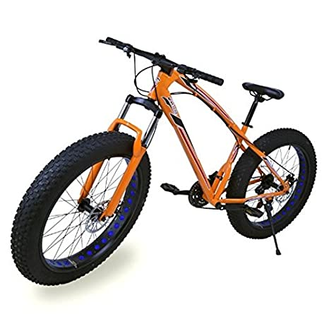 Fat Bike Bicicleta Todo Terreno Color Naranja BEP-11 Riscko ...