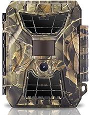 """WingHome Wildkamera 12MP 1080P Überwachungskamera No Glow 20M Nachtsichtkamera mit Bewegungsmelder mit 2.0"""" LCD Display 52°PIR-Winkel IP66 wasserdichte Jagdkamera für Jagd & Wildes Fotografieren"""