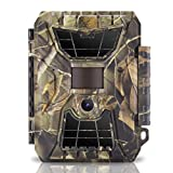 WingHome Trail Camera, IP66 Waterproof Game Camera with Night Vision for Hunting & Wildlife Photographing, 12/16/24MP 1080P 65ft PIR Sensor Motion Activated No Glow Night Camera, 0.8s Trigger Speed