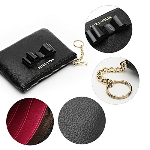 ANA LUBLIN leather Wallet Small Coin Purse Women RFID Blocking Mini Money Pocket by ANA LUBLIN (Image #3)