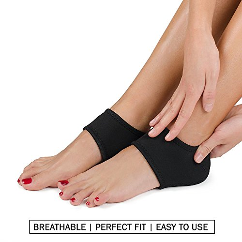 Plantar Fasciitis Foot Arch Support Wrap By Mello - Graduated Pressure Technology That Relieves From Pain, Prevents Fatigue, Aids Quick Muscle Recovery - Premium Quality, Breathable Material (L) by Mello