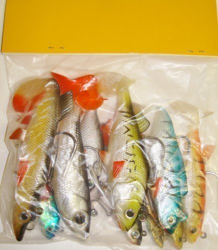 TraceAce Tackle 10 X Mixed Soft Pike Lures,Pike Baits,Pike Rigs,Pike...