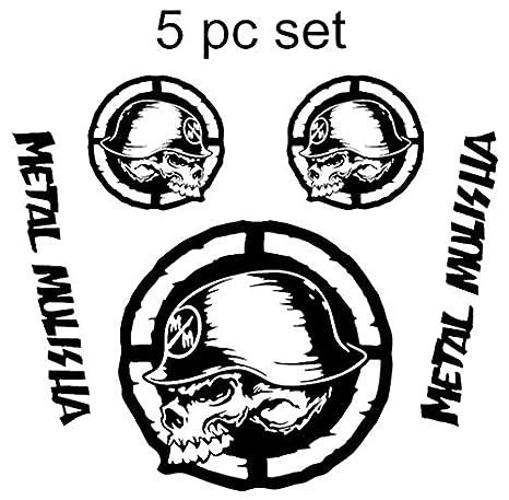 Amazon Com Metal Mulisha Skull Military Star Hood Door Vinyl Decal