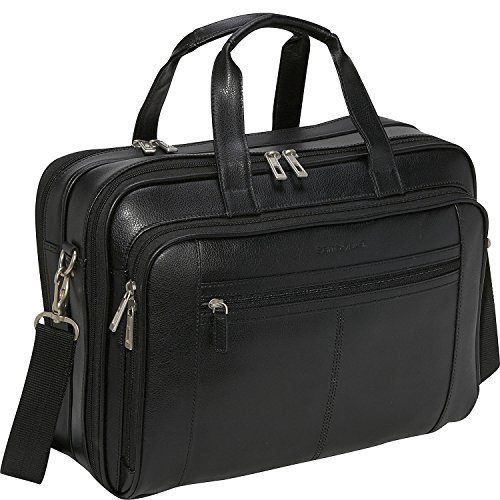 Samsonite Leather Business Cases Checkpoint-Friendly Briefcase in Black