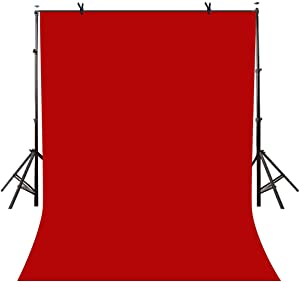 LYLYCTY 5x7ft Photography Studio Non-Woven Backdrop Bright Red Backdrop Solid Color Backdrop Simple Background LY092