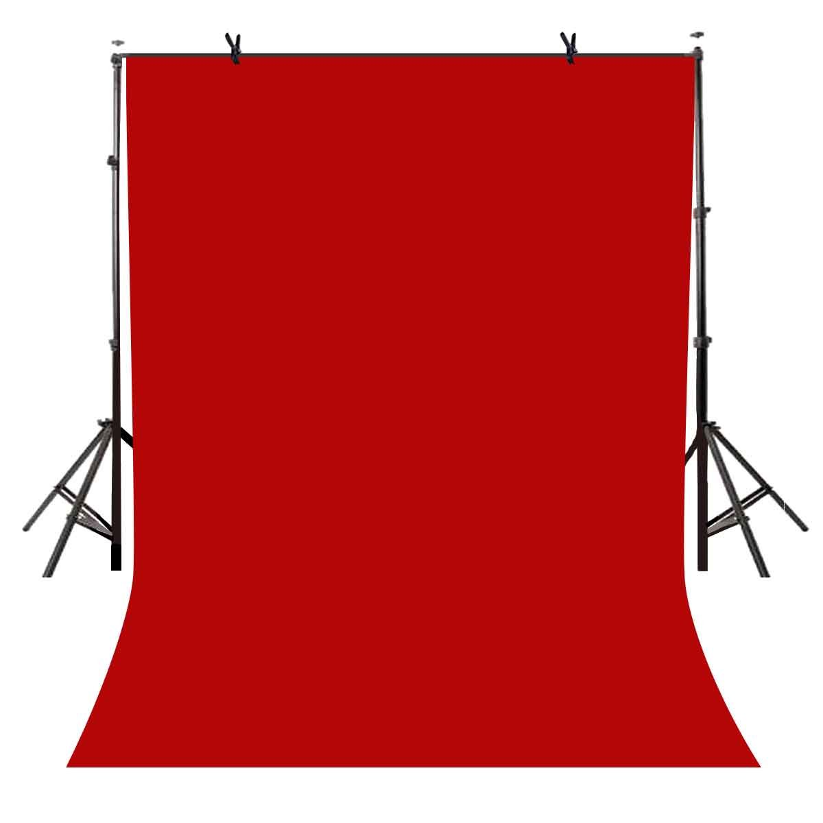 LYLYCTY 5x7ft Photography Studio Non-Woven Backdrop Bright Red Backdrop Solid Color Backdrop Simple Background LY092 by LYLYCTY