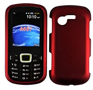 Red Hard Case Cover For Samsung Evergreen A667