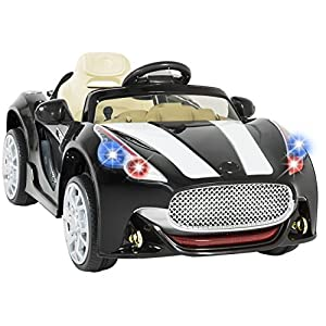 Best Choice Products 12V Car Kids RC Electric Battery Power Ride On with Radio & MP3, Black