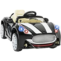 Best Choice Products 12V Car Kids RC Electric Battery Power Ride On with Radio & MP3 (Black)