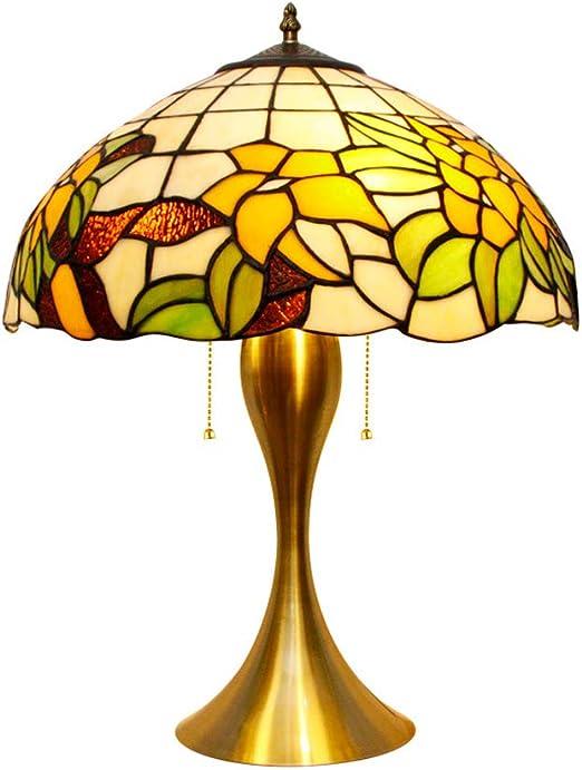 Anyi Lámparas de Mesa de Tiffany Coloridas, luz de Mesa de Estilo ...
