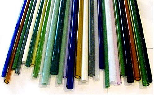 10 Borosilicate Mixed Colors 12 Inch Tubes COE 33 Devardi Glass Boro Tubing