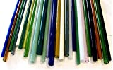 Devardi Glass Boro Tubing, COE 33, 10 Borosilicate Mixed Colors 12 Inch Tubes