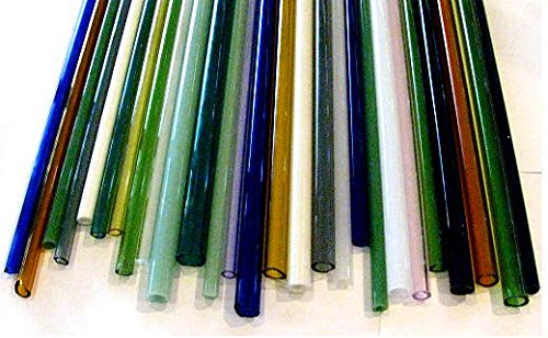 Devardi Glass Boro Tubing, COE 33, 10 Borosilicate Mixed Colors 12 Inch ()