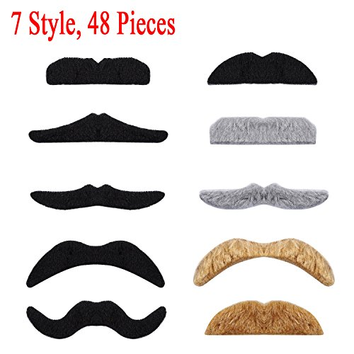 Buy fake mustache brown