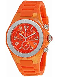 Michele Womens Jelly Bean Orange Rubber Watch