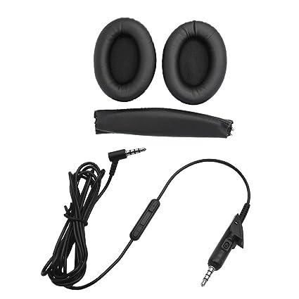 perfk Almohadillas Reemplazantes de Auriculares Inalámbricos Cojines para Oídos para Bose QuietComfort 15 / QC15