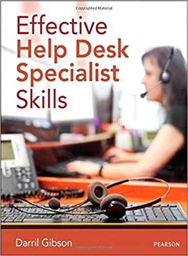 Lovely Effective Help Desk Specialist Skills 1st Edition