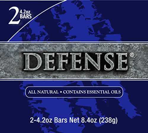 Defense Soap 4 Ounce Bar (Pack of 2) - 100% Natural and Herbal Pharmaceutical Grade Tea Tree Oil